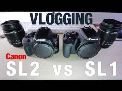Canon SL2 vs SL1 Vlogging