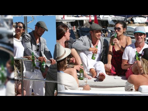 Kellan Lutz Yachts With Hot Women in Monaco