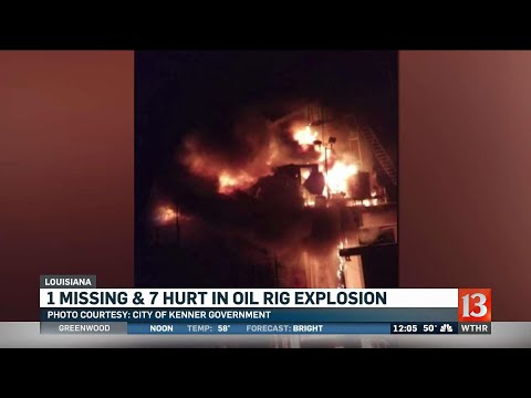 One missing after oil rig explosion in Louisiana