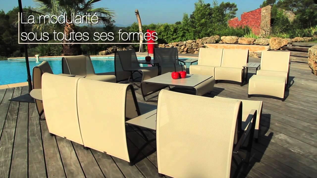 Salon de jardin JETSTREAM - Les Jardins© Mobilier de jardin modulable