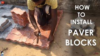 Paver Block I How to Lay Concrete Paver Block at site ? I Interlocking  Cement Concrete Paver Block