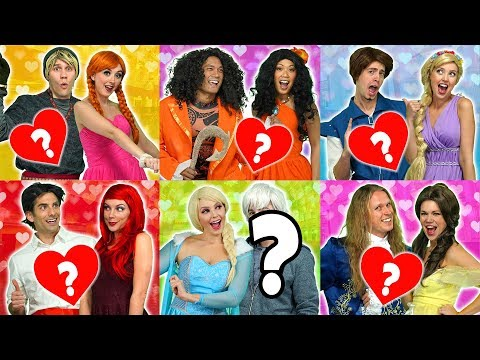 PRINCESS VALENTINES DANCE. WHO IS WITH ELSA? (With Ariel, Moana, Rapunzel, Belle and Anna)