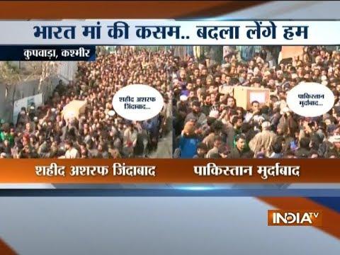 Kupwara: Thousands of people attend martyr Ashraf Mir's last journey