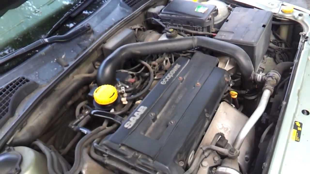 Saab 95 23t Engine Running  YouTube