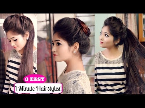 Easy Everyday Hairstyles With Volume Front Puff Hairstyle For Work
