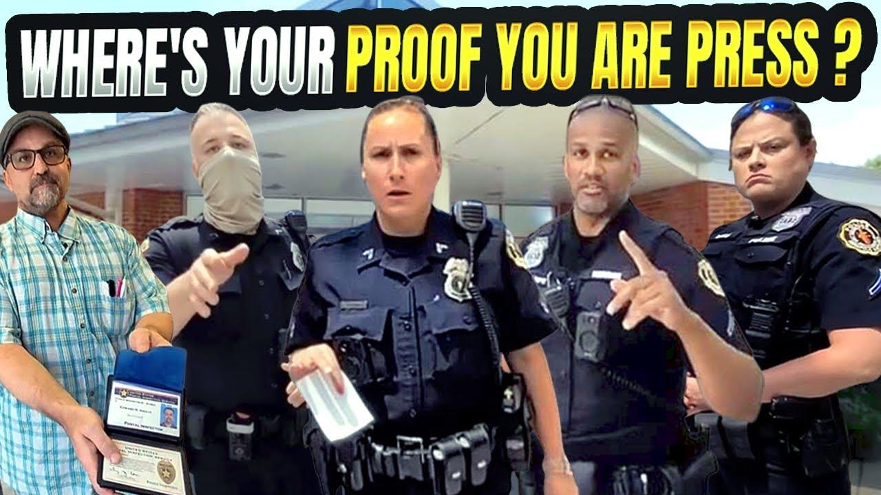 POSTAL INSPECTORS EDUCATE LOCAL POLICE ON POSTER 7! 1ST AMENDMENT AUDIT! WALK OF SHAME!