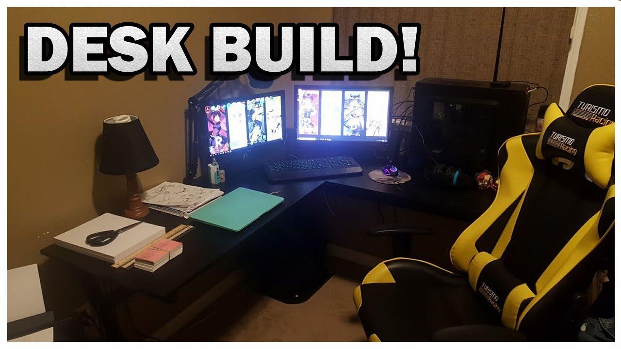 HomCom L Shaped Corner Office Workstation   Desk Building For My Wife    Model Number A2 0081