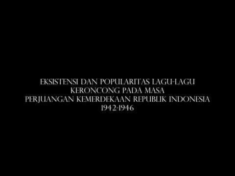 Lagu-lagu keroncong perjuangan Indonesia 1942-1946