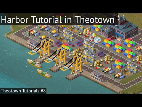 How to make Harbor in theotown - Theotown Tutorials #8