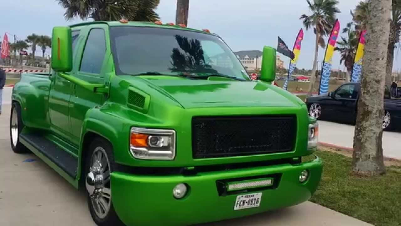 custom gmc topkick 6500 bagged on intro\u0027s more b youtube GMC Commercial Trucks