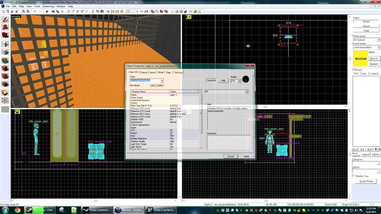 Hammer tutorials: lighting episode 2: light_dynamic entity.