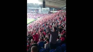 Wales 1-0 Belgium pre match atmosphere