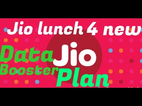 Jio lunch new data booster plan