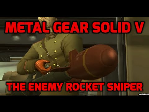 The enemy rocket sniper I Metal Gear Solid V : The Phantom Pain
