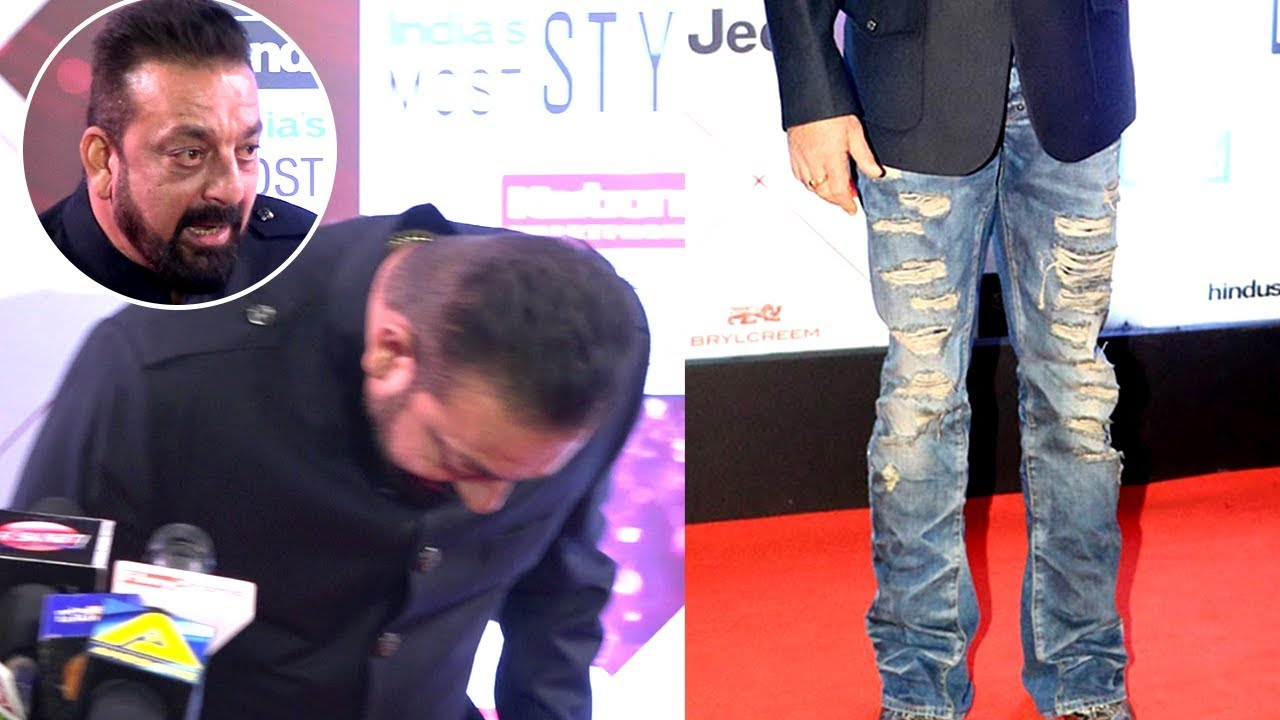 Sanjay Dutt Jokes About His Torn Ripped Jeans At HT MOST ...