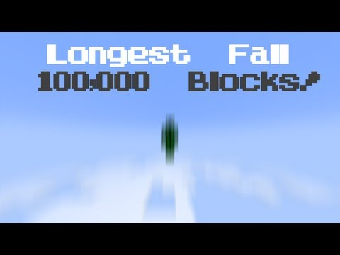 Minecraft: The Longest Fall! 100,000 Block Free Fall!