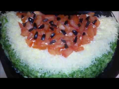 Салат Апельсиновая долька пошаговый рецепт с фото на
