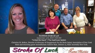 """United We Stand"" ~The Healthcare System  ~ September 29 , 2019  ReneMarie Stroke of Luck Show!"