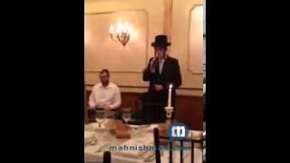 Motti Steinmetz Singing Viznitz Song 'La'asos Retzoncha'