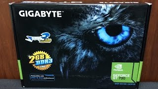 Gigabyte nVidia GeForce GT 730 2GB DDR3 Graphics Card Unboxing