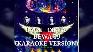 Gambar cover DeWA 19 - Lagu Cinta (Karaoke)