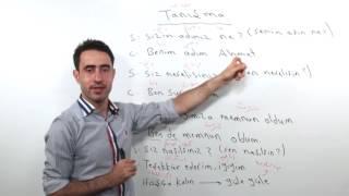تعلم اللغة التركية أونلاين || الدرس الأول محادثة Tanışma