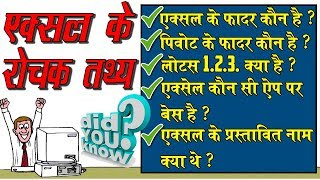 [HINDI] Excel Interesting and Unknown Facts you should know│Little known Facts about Microsoft Excel