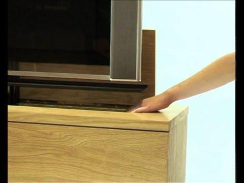 meuble tv cran plat escamotable t l command fran oi doovi. Black Bedroom Furniture Sets. Home Design Ideas