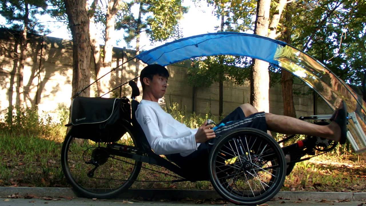 100% Homemade Trike Recumbent Canopy Installation takes about 2min : trike canopy - afamca.org