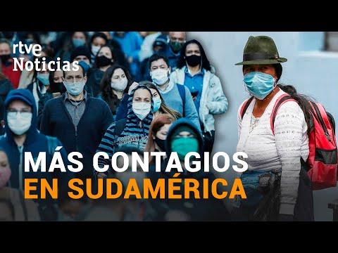 COLOMBIA es el país de SUDAMERICA con más casos de COVID-19 después de BRASIL | RTVE Noticias