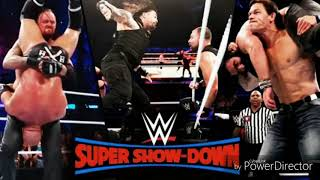 WWE Super show down matches result ! Triple H Win ! Roman Reigns punch Ambrose ! Undertaker lose !