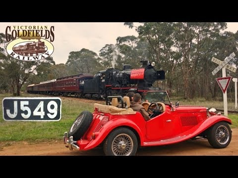 Victorian Goldfields Railway - Publicity Special with J549