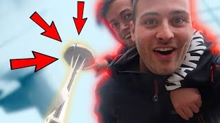 WE SNUCK INTO THE SPACE NEEDLE!!