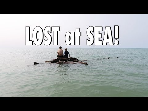 LOST at SEA in a Homemade RAFT! ⚓️ Lost Boys ⚓️ Boy's Camping Trip day 2 - vlog e400