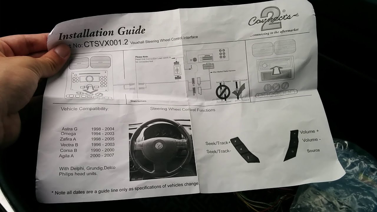 Opel Astra G Steering Wheel Remote Control Pioneer