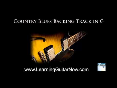 Country Blues Backing Track in G