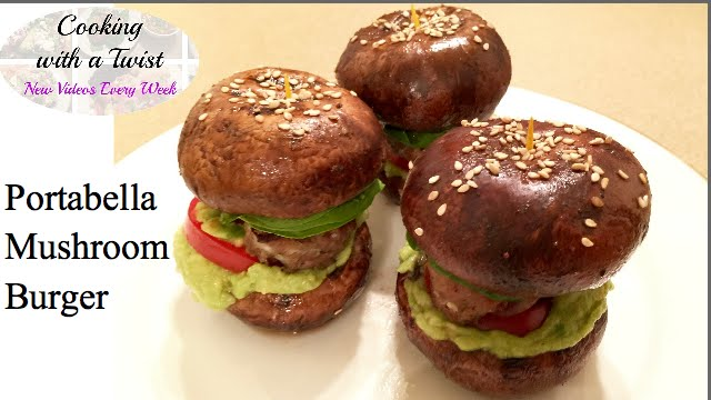 Bunless Portabella Mushroom Burger Recipe Mushroom Bun Burger How To Make Portobello Burger Youtube