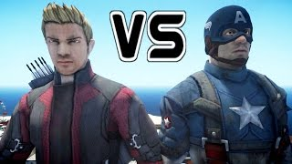 HAWKEYE VS CAPTAIN AMERICA - EPIC BATTLE