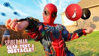 Spider-Man Gear Test & Super Hero Obstacle Course Kids Challenge!!!
