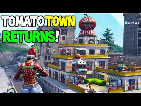 *NEW* TOMATO HEAD BUILDING / TOWN In Fortnite Battle Royale! (Future Map Changes | Creative)