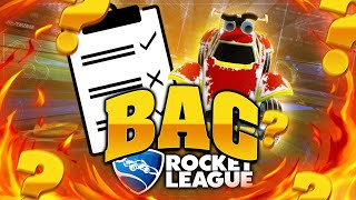 Le BAC de Rocket League (Freestyle) 🚀