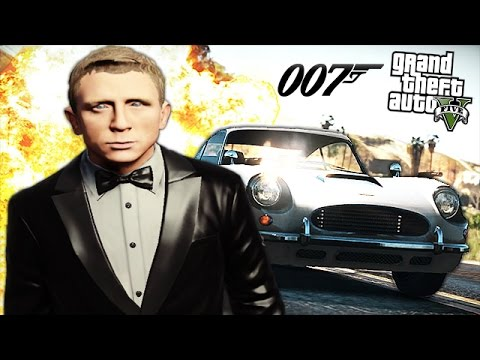 "GTA 5 Mods - JAMES BOND ""007"" MOD! (GTA 5 Mod Gameplay)"