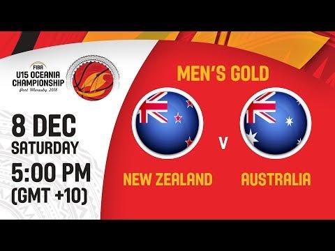New Zealand v Australia - Final - Full Game - FIBA U15 Oceania Championship 2018