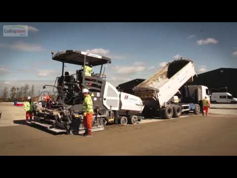 How to lay roller compacted concrete