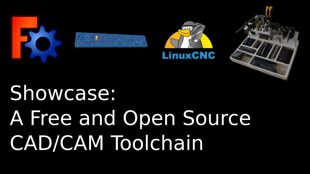 Free And Open Source Cad Cam Toolchain Youtube