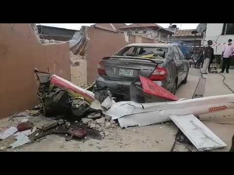 Panic as helicopter crashes into Lagos building | Vanguard News