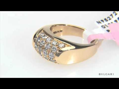 BULGARI 0.9 CTW Diamonds 18K Gold Ring