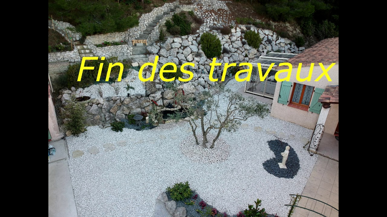 Cr ation jardin zen avec bassin youtube - Creation jardin zen ...