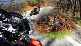 Fast GSXR Lowside Into Ditch ⚠️ Thumb