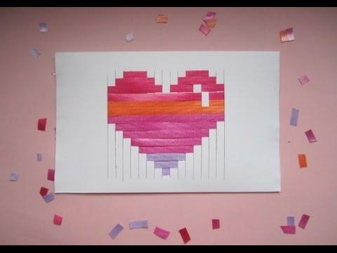 Valentinstag Herz Karte